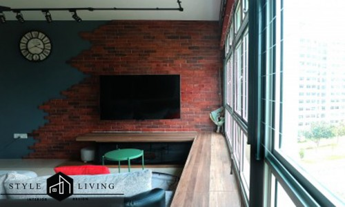 Industrial New 5-Room HDB by Style Living Interior