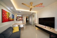 Contemporary New 4-Room HDB by Areana Creation Pte Ltd