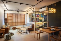 Eclectic New 4-Room HDB by Dots 'N' Tots Interior Pte Ltd