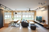 Contemporary New 3-Room HDB by Dots 'N' Tots Interior Pte Ltd