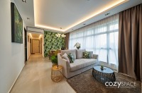 Transitional New 4-Room HDB by Cozyspace