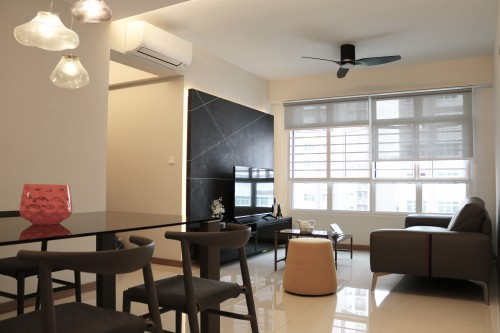 Minimalist New 4-Room HDB by AREA IA + D PTE LTD
