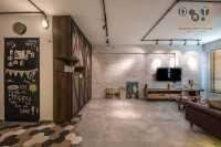 Industrial New 5-Room HDB by Dots 'N' Tots Interior Pte Ltd