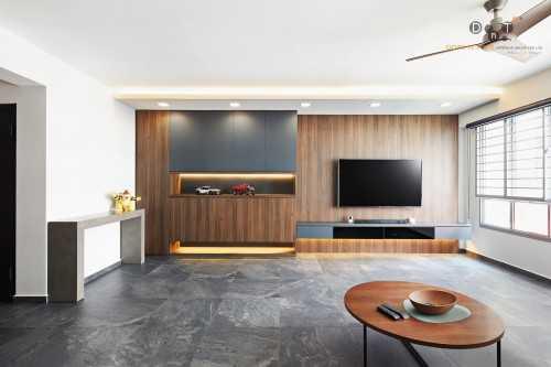 Modern New 5-Room HDB by Dots 'N' Tots Interior Pte Ltd