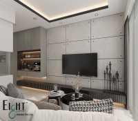 Minimalist Resale Condominium by Eight Design Pte Ltd
