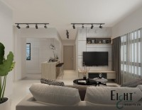 Modern Resale 3-Room HDB by Eight Design Pte Ltd