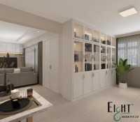 Modern Resale Executive HDB by Eight Design Pte Ltd