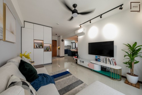 Minimalist New 4-Room HDB by Space Atelier Pte Ltd