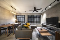 Industrial New 5-Room HDB by Livspace