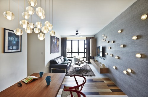 Minimalist Resale 4-Room HDB by Honeycomb Design Studio