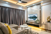 Contemporary New 3-Room HDB by Design 4 Space Pte Ltd