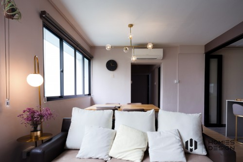 Modern Resale 4-Room HDB by Homies Design