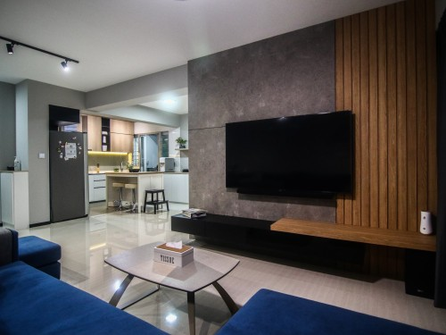 Contemporary New 5-Room HDB by M2 DECOR Pte Ltd