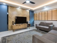 Modern New 4-Room HDB by U-Home Interior Design Pte Ltd