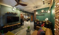 Industrial New 4-Room HDB by The Interior Lab Pte Ltd