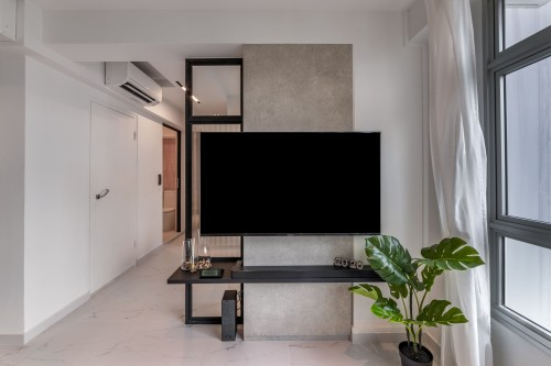 Modern Resale 3-Room HDB by Livspace