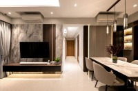 Modern New Executive HDB by Space Atelier Pte Ltd