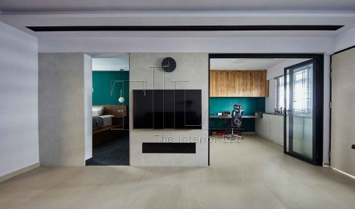 Contemporary Resale 3-Room HDB by The Interior Lab Pte Ltd