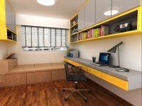 Contemporary New 5-Room HDB by Ideal Design Interior Pte Ltd