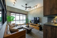 Industrial New 3-Room HDB by Design 4 Space Pte Ltd