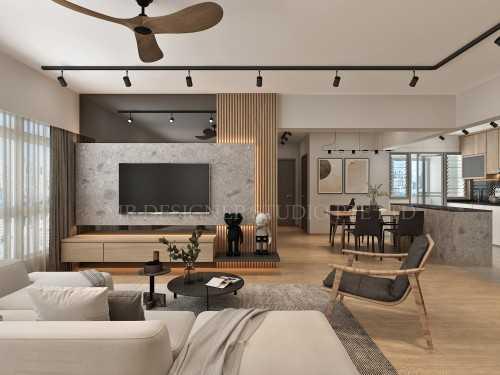Modern New 4-Room HDB by Mr Designer Studio