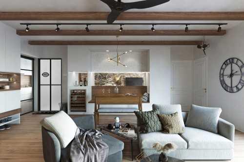 Country Resale 5-Room HDB by Kontrast Design