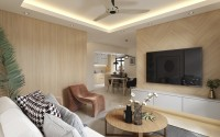 Contemporary New 4-Room HDB by 13 Degree Design Studio Pte Ltd