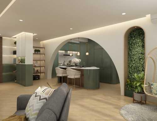Contemporary New 4-Room HDB by Elysian Design & Renovation
