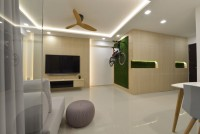 Contemporary New 4-Room HDB by Earth Interior Design Pte Ltd