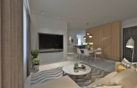 Contemporary New 4-Room HDB by 9 Degree Construction Pte Ltd